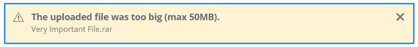 File Too Big
